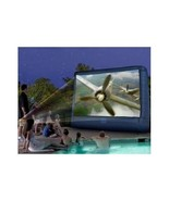 Video Projector Screen Portable Inflatable Movie Outdoor Backyard Blow U... - $221.76