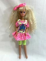 Vtg 1991 Barbie Doll Teen Sister Pet Pals Skipper Blonde Hair Neon Outfi... - $16.82