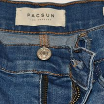 Pacsun Women's Ripped Destroyed Distressed Blue Demin Jegging Pants Size 26 image 3