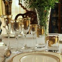 Embellished 24K Gold Crystal Flute Goblets (Set of 4) - $63.31