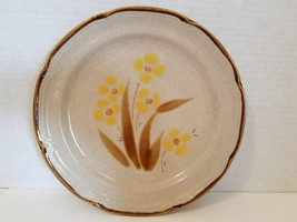 Stoneware dinner plate with yellow flowers, The Classics by Hearthside l... - $8.00