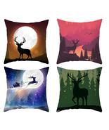 Pillow cover christmas,18×18,Elk Throw pillow case,Square Decor cushion ... - $31.99