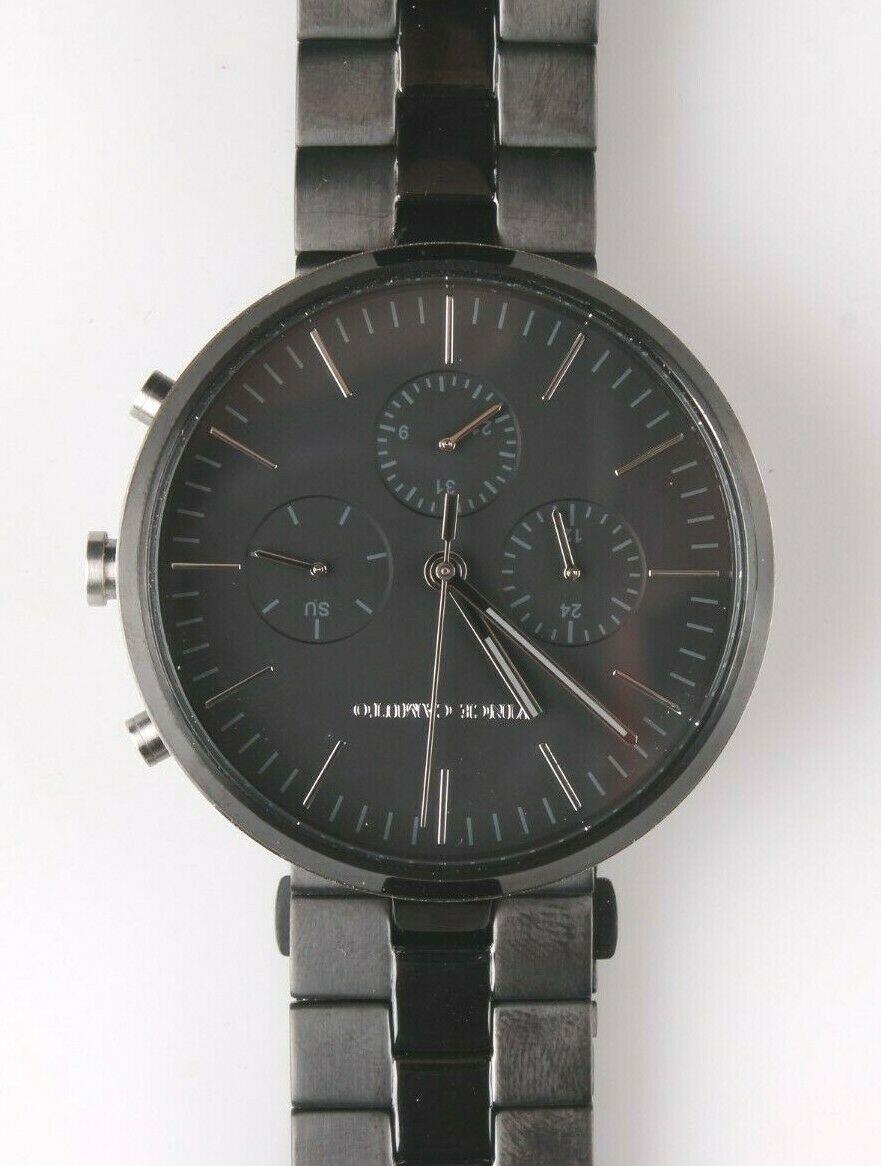 Vince Camuto Vc / 1098BKTB Herren Mehrzweck Schwarz Ziffernblatt Edelstahl Uhr