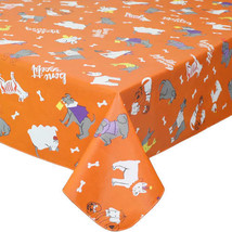 Halloween Vinyl Tablecloth Dogs in Costumes Orange 60 x 84 Oblong NEW - $12.99