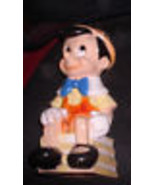 Pinocchio Walt Disney Production Vintage piggy bank markedWDP - $35.99