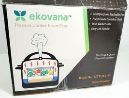 Ekovana Stackable Pressure Cooker Insert Pans 2STK-MD-5L New Open Box - $44.95