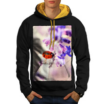 Lady Bug Flower Nature Sweatshirt Hoody Beautiful Nature Men Contrast Ho... - $23.99+