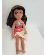 "Disney Store Moana Plush Stuffed Rag Doll 20"" Princess  - $14.83"