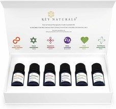 Pure & Natural Therapeutic Grade Aroma Essential Oils Set of 6 Rey Naturals - $20.99