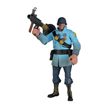 """Blue NECA Team Fortress 2 The Soldier Action Figure, 7"""" - $78.39"""