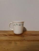 "Vintage Corning USA Coffee Tea mug/ White with Floral Heart design - 3.5"" tall - $20.10"