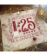 R-63 December 25th christmas cross stitch chart Rovaris   - $12.00