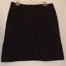 Black A-Line Skirt Size 10  Womens Gap Knee Length - $15.89