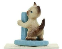 Hagen Renaker Miniature Cat Siamese Kitten with Scratching Post Ceramic Figurine image 10