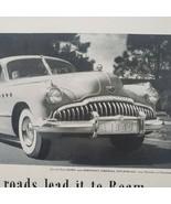 1949 Buick Print Ad Roadmaster All Roads Lead It To Roam - $13.49