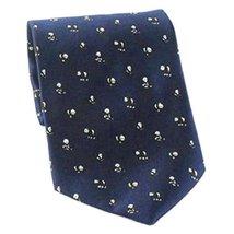 New Chinese Style Mini Panda Pattern Men Ties Neckties Dark Blue Boys Cheap Ties