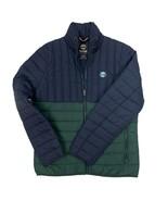 Timberland Men's Puffer Polyester Fill Dark Navy & Green Jacket A1MLP - $89.99