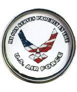 My Son Serves Proudly in The US Air Force Support Our Troops 18MM - 20MM... - $5.83