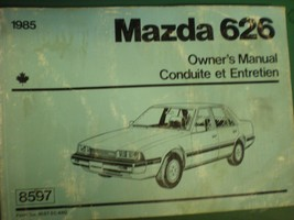 1985 Mazda 626 Owners Operators Manual - $6.92