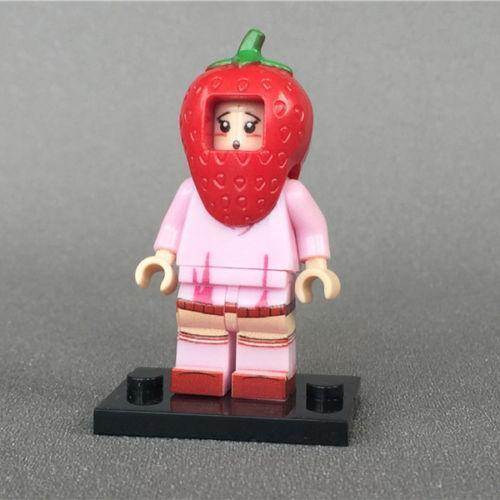 The Strawberry Girl Fruit Series Lego Minifigures Block Toy Gift For Kids