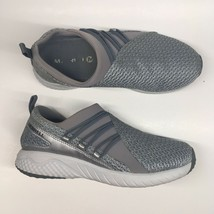 Merrell Womens Sz 6.5 Grey Mesh Slip On Comfort Air Cushon Walking Shoe - $28.74