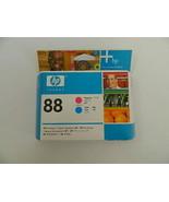 HP 88 Magenta and Cyan Printhead C9382A Genuine New Sealed Box - $21.99