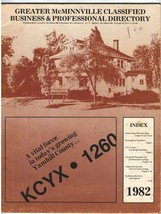 Vintage 1982 Phone Book - McMinnville, OR Classified Business & Professi... - $10.00