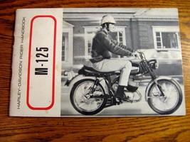 1968 Harley Davidson M-125 Owner's Owners Manual Rider Handbook Motorcycles - $52.91