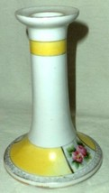 Noritake Candle Holder Handpainted White Yellow Floral Panels Gold Trim ... - $16.14