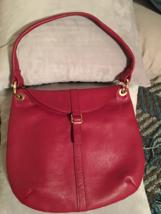 GORGEOUS Très Chic Red Leather hobo shoulder bag handbag by Barr-Barr