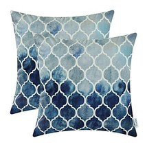 CaliTime Pack of 2 Cozy Throw Pillow Cases (22 X 22 Inches|# F Navy Grey) - $35.95