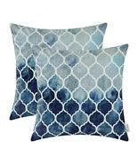 CaliTime Pack of 2 Cozy Throw Pillow Cases (22 X 22 Inches|# F Navy Grey) - $47.71 CAD