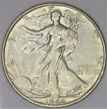 1946-S Walking Liberty Half Dollar; AU   - $49.49