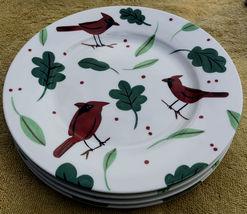 Studio Nova Holiday Cardinal porcelain salad plates (4) - $18.00