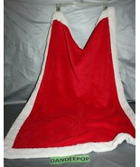 Geoffrey 2007 Baby Holiday Christmas Red With White Trim Blanket 28 x 38 - $29.69