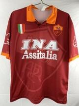 INA Assitalia Totti #10 Roma Soccer Futbol Jersey Shirt Men's Size XL - $39.59