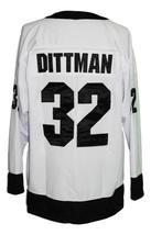 Custom Name # Team New Zealand Retro Hockey Jersey New White Dittman 32 Any Size image 2