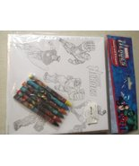 Marvel Heroes Canvas with 6 Crayons - $16.82