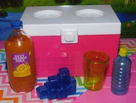Outdoor Cooler with Our Generation Ice Soft Drinks fits American Girl 18... - $15.83