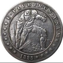 Rare New Hobo Nickel 1885 Morgan Dollar Iron Man Superhero Marvel Casted... - $11.99