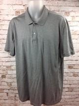 Calvin Klein Mens Polo Golf Casual Shirt Sz XL 100% Cotton Gray Short Sleeve - $17.95