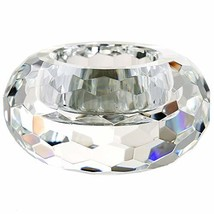 DONOUCLS Crystal Tealight Holders Hand Cut Crystal Candle Holders Banque... - $14.84