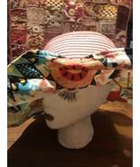Vintage Pink Straw Wide 4 Inch Floral Brim Hat - $51.46
