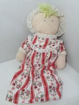 Eden Lanz of Salzburg Blonde Soft Doll Plush Flannel Red Nightgown Cap V... - $49.49