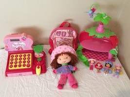 Strawberry Shortcake Lot - Berry Sweet Cash Register Doll House Backpack... - $45.99