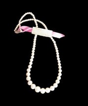Elgin America Vintage Valencia Simulated Pearls Necklace 1950s NWT - $35.49