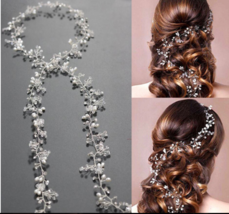 Leaf Long Bridal Tiara Hairbands Floral Headpi... - $26.21