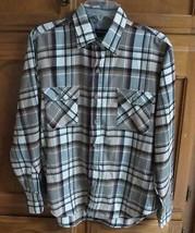 Flannel Shirt Midweight Plaid Fits Like Mens S Womens L Arrow Long Sleev... - $14.99