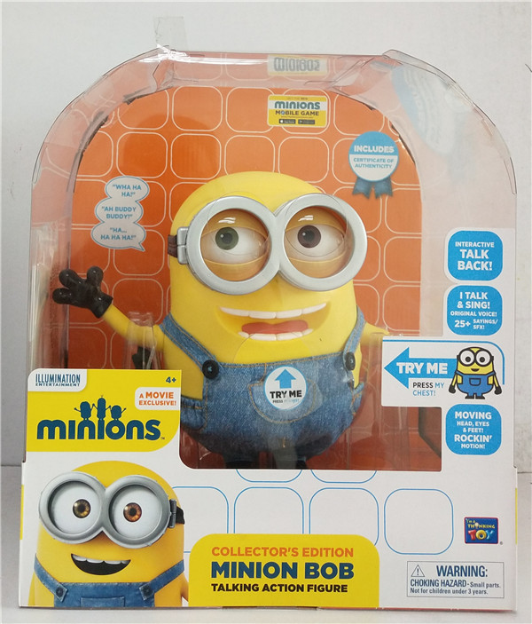 Primary image for Disney Pixar Thinkway Toys Despicable Me Minion Bob Talking action Figure