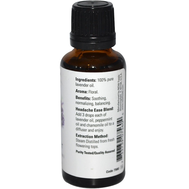 Now Foods, Essential Oils, Lavender, 1 fl oz (30 ml) Aromatherapy